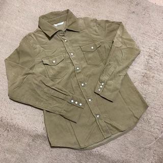 ベージュコーデュロイシャツ(シャツ/ブラウス(長袖/七分))