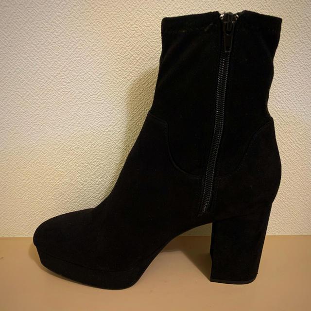 H&M(エイチアンドエム)のスエード調 ソックスブーツ 26cm アンクルブーツ レディースの靴/シューズ(ブーツ)の商品写真