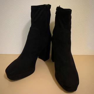 エイチアンドエム(H&M)のスエード調 ソックスブーツ 26cm アンクルブーツ(ブーツ)