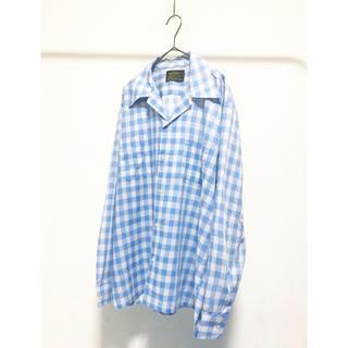コムデギャルソン(COMME des GARCONS)のvintage ヴィンテージ 70s usa製 sears 白 チェックシャツ(シャツ)