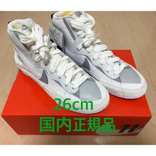 ナイキ(NIKE)のSacai Nike Blazer Mid サカイ ナイキ ブレザー 26(スニーカー)