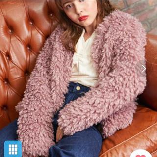マジェスティックレゴン(MAJESTIC LEGON)のピンク コート(毛皮/ファーコート)
