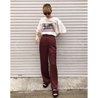 moussy - moussy SILKY RELAX パンツ ブラウン 未使用