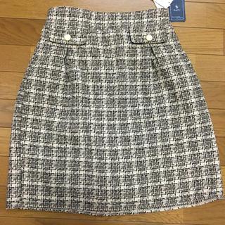 アベイル(Avail)のRag Out ツイード タイトスカート タグ付き未使用品(ひざ丈スカート)