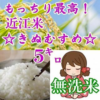 【無洗米】近江米きぬむすめ5kgを精米