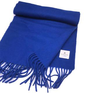 ランバンオンブルー(LANVIN en Bleu)の美品LANVINカシミヤ混マフラー ランバン男女兼用 (マフラー/ショール)