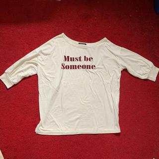 ワンウェイ(one*way)のワンショルロゴTシャツ(Tシャツ(長袖/七分))