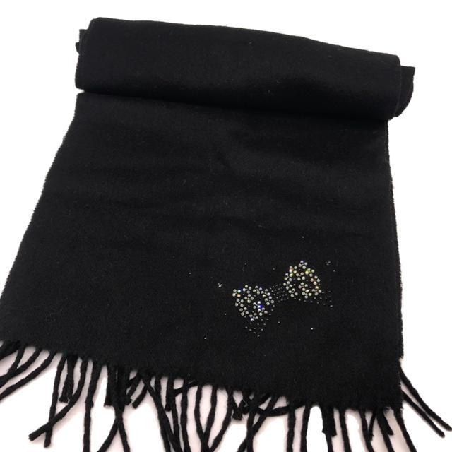 ANTEPRIMA(アンテプリマ)のアンテプリマカシミヤ リボンストーン付きマフラー レディースのファッション小物(マフラー/ショール)の商品写真