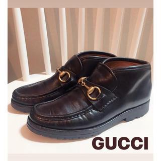 グッチ(Gucci)のGUCCI ホースビット ローファー ショートブーツ 小さいサイズ(ローファー/革靴)