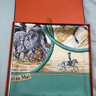 エルメス(Hermes)のhermes エルメス カレ90 Auteuil en Mai スカーフ(スカーフ)