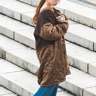 Kastane - 【売り切り希望】kastane ボアキルトドッキングコート ブラウン
