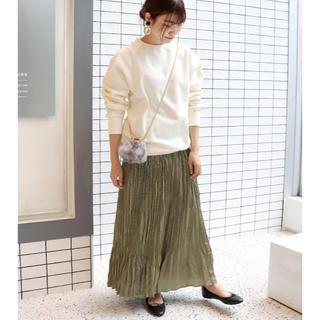 IENA SLOBE - ヴィンテージサテンプリーツスカート