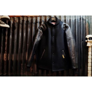 キャリー(CALEE)のCALEE WOOL RIDERS STADIUM JACKET(スタジャン)