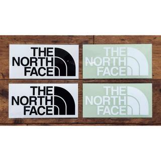 ザノースフェイス(THE NORTH FACE)のノースフェイス カッティングステッカー ブラック2枚 ホワイト2枚の計4枚セット(その他)