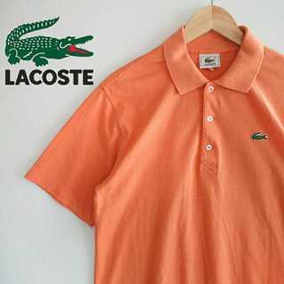 ラコステ(LACOSTE)の801 LACOSTE レアカラー オレンジ 胸刺繍ロゴ ポロシャツ(ポロシャツ)