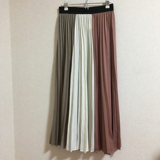 Loungedress - ラウンジドレス  プリーツロングスカート 切り替え 安室奈美恵ちゃん着用