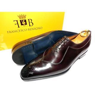 サントーニ(Santoni)の【新品◆定価6.1万】フランチェスコベニーニョ パティーヌ 革靴 6 25cm(ドレス/ビジネス)