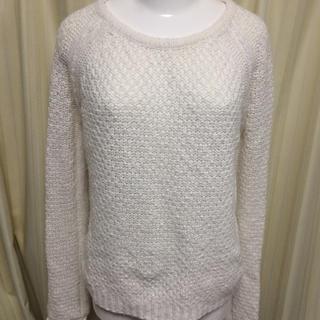 MERCURYDUO - 定価8000円 マーキュリーデュオ セーター ニット 白 ホワイト 鍵編み