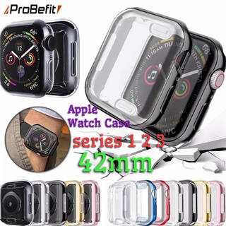 Applewatch アップルウォッチ 保護カバー ケース 42mm(腕時計(デジタル))