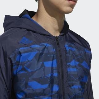 アディダス(adidas)の新品 M アディダス プロフェッショナル プロ使用モデル ウィンドブレーカー 青(ナイロンジャケット)