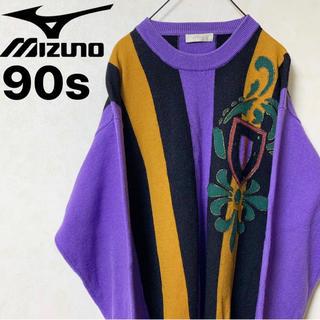 ミズノ(MIZUNO)のデザインニット Axy MIZUNO製 90s ヴィンテージ レトロ レア(ニット/セーター)