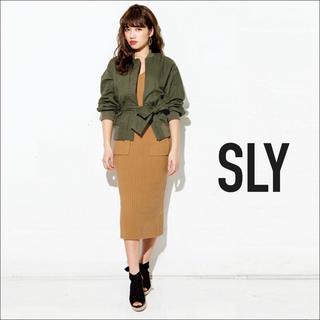 SLY - SLY リブ ミディ ワンピース♡マウジー ジーナシス ENVYM GYDA