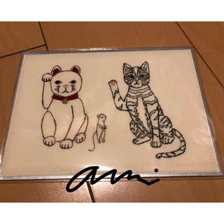 H.P.FRANCE - コーラルアンドタスク 刺繍カード Lucky cats