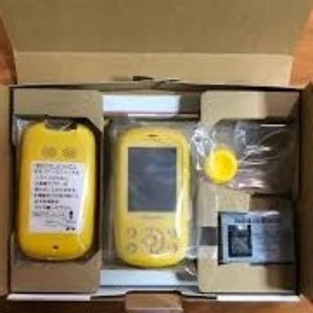 NTTdocomo(エヌティティドコモ)の【新品】ドコモキッズ携帯 F-03J イエロー(黄) SIMフリー スマホ/家電/カメラのスマートフォン/携帯電話(携帯電話本体)の商品写真