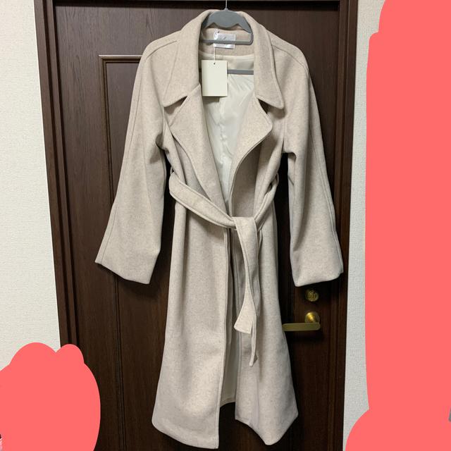 H&M(エイチアンドエム)の新品未使用☆ ロングチェスターコート☆韓国☆Candy Baby☆フォーマル  レディースのジャケット/アウター(チェスターコート)の商品写真