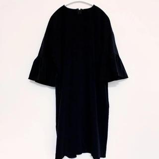 バーニーズニューヨーク(BARNEYS NEW YORK)の【新品未使用】ヨーコチャン yokochan Black Dress (ひざ丈ワンピース)
