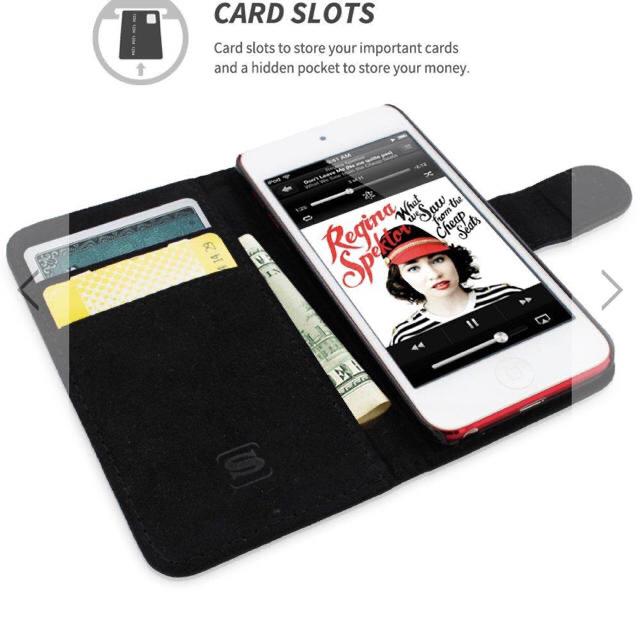 英国SNUGG製iPod touch手帳型ケース 第5/第6世代用 ブラック スマホ/家電/カメラのスマホアクセサリー(モバイルケース/カバー)の商品写真