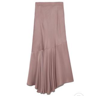 FRAY I.D - FRAY I.D イレギュラーヘムスカート 人気カラー ピンク