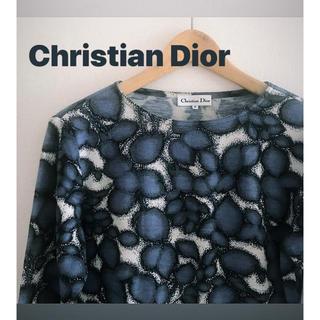 クリスチャンディオール(Christian Dior)の【お値下げ!】 Christian Dior リーフ柄 トップス(カットソー(長袖/七分))