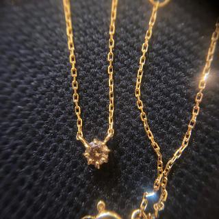 ete - ete k18 ブラウンダイヤモンドネックレス