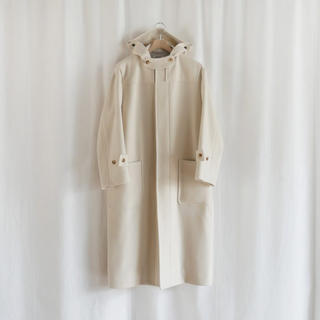 Shinzone - AURALEE wool silk melton duffle coat
