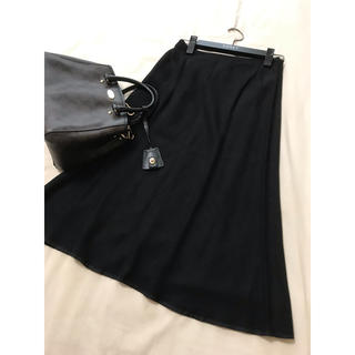 プラダ(PRADA)のPRADA スカート  ブラック 黒 プラダ(ひざ丈スカート)