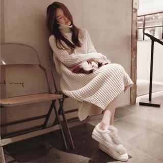 dholic - 秋冬新作 ゆったりめ ロング丈ニットワンピース 韓国ファッション