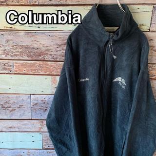 コロンビア(Columbia)のコロンビア フリースジャケット 企業ロゴ コラボ ネイビー Lサイズ(その他)