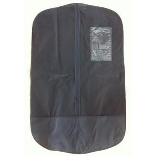 便利なスーツカバー黒1枚+持ち手収納式ハンガー1本組(その他)