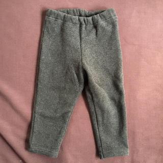 パンツ ズボン ダークグレー 裏起毛