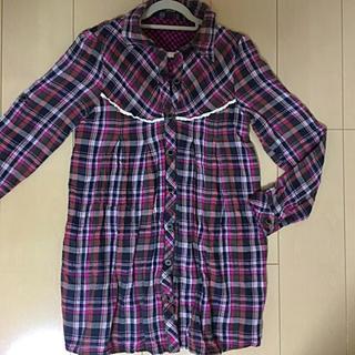 ドスチ(Dosch)のチェックシャツ 長袖 ピンク(シャツ/ブラウス(長袖/七分))