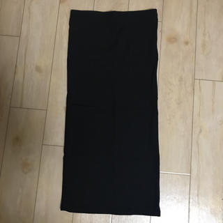 ベルシュカ(Bershka)の美品☆シンプル ブラック 細リブタイトスカート(ひざ丈スカート)