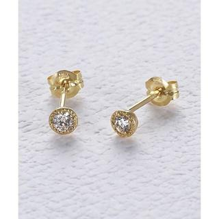 agete - agete K18 ダイヤモンド ピアス ¥37,400