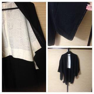 男女兼用着物リメイクノーカラージャケット 羽織(ノーカラージャケット)