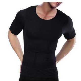ダイエット 加圧シャツ 加圧インナー ブラック 黒 メンズ 半袖 アンダーウェア(Tシャツ/カットソー(半袖/袖なし))