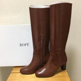ロペ(ROPE)のccc様専用です‼️新品❣️ROPE 牛革 ロングブーツ(ブーツ)