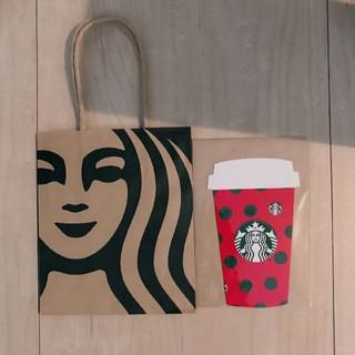 スターバックスコーヒー(Starbucks Coffee)のホリデー カード&ミニサイズのショッパー 紙袋 ポイント消化(カード)