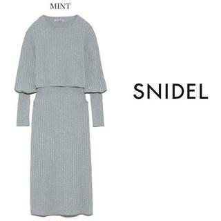 snidel - 【送料込★美品】SNIDEL ショースキンニットミニワンピース