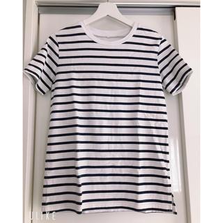 ROTTWEILER - 【ロットワイラー】ボーダー Tシャツ フリーサイズ  ホワイト×ネイビー