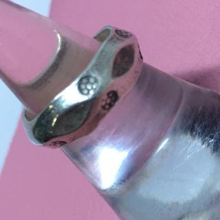 カレンシルバー ハンドメイド 高純度銀細工 ヴィンテージ リング 10号 指輪(リング(指輪))